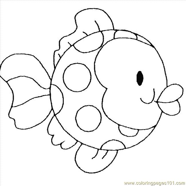 Printable Coloring Pages Fish Childrens Animals Fishes Free