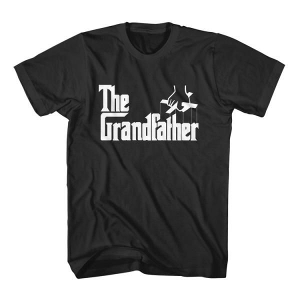 T-Shirt The Grand Father is a parody funny t-shirt inspired from movie The Godfather Al Pacino. Unisex men S, M, L, XL, 2XL color black and gray. Free shipping USA, UK and worldwide.