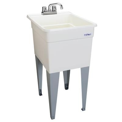 Mustee Liltub Laundry Tub Single 18 In Wide 21cp