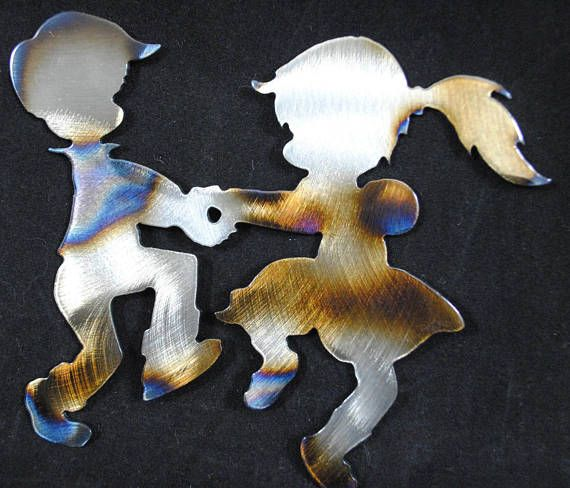 Dancing metal kids playing ring around the rosie on Christmas moring.  #dancingkids #metalkids #christmaskids #metaldancingkids #rustickidsornament #kidsornament #christmasdecor  https://www.etsy.com/listing/565532371/ring-around-the-rosie-kids-kids-dancing
