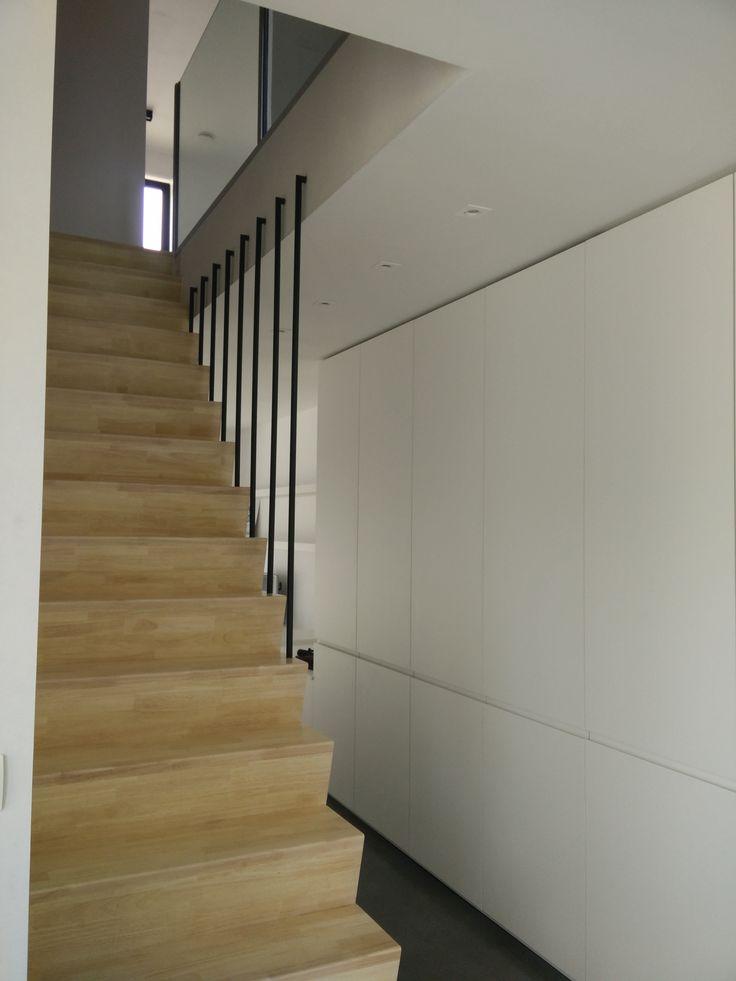 Ontwerp woning, meubelwerk en verlichtingsplan door stam architecten, werfbezoek, 1424WYNS, stam.be