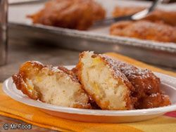 """PINEAPPLE FRITTERS: ~ From: """"mrfood.com"""" ~ Cooking Time: 25 min; Yield: (2 dozen). ~ Fritters are simply small portions of yummy batter that are deep-fried. This one's especially tasty 'cause it's overflowing with the flavor of juicy pineapple. Read more at http://www.mrfood.com/Misc-Desserts/Pineapple-Fritters-702/ml/1/?utm_source=ppl-newsletter&utm_medium=email&utm_campaign=mrfoodjustdesserts20140202#Y6KSzB4vcfMPcuAb.99"""
