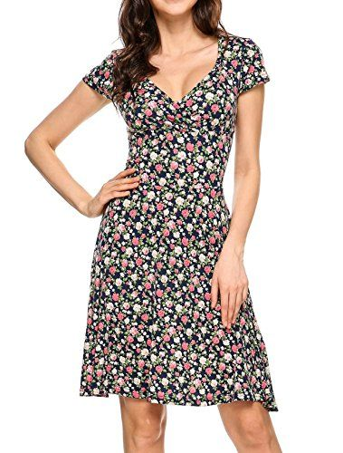 New Onbay Women Rayon Wrap Dress V-Neck Cap Sleeve Floral Printed Casual Sundresses online. Find the perfect Chicwe Dresses from top store. Sku ljof10539egzr64881
