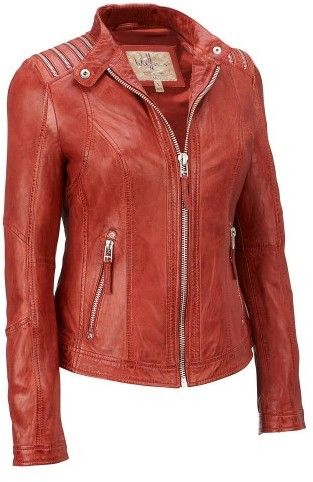 Wilsons Leather Womens Vintage Lamb Jacket W/ Shoulder Zippers