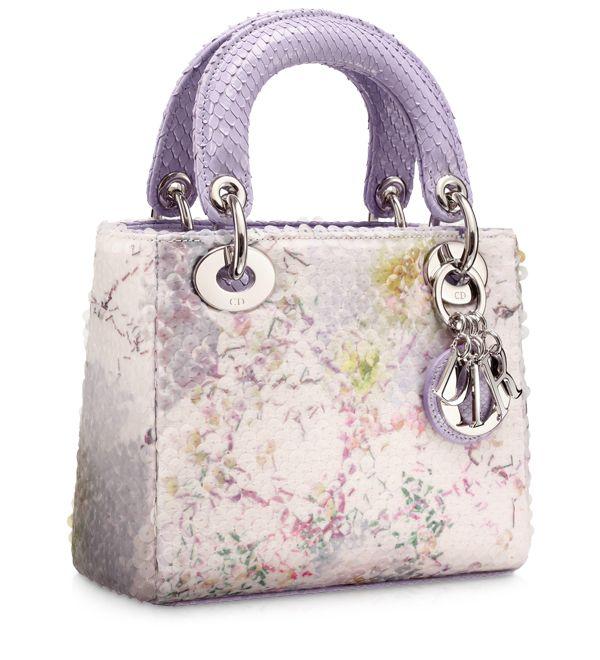 #DIOR OBLIQUE Multi-coloured 'Lady Dior' mini bag