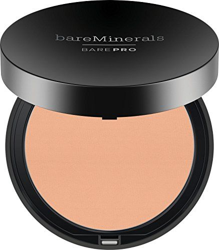 bareMinerals Barepro Performance Wear Powder Foundation, Sateen, 0.35 Ounce  Clinically shown to improve skin clarity, reduce pore size appearance and control shine  Available in 20 true-to-you shades in a sleek foundation compact.  Ultra-smooth, silky texture glides on effortlessly for superior customizable coverage.