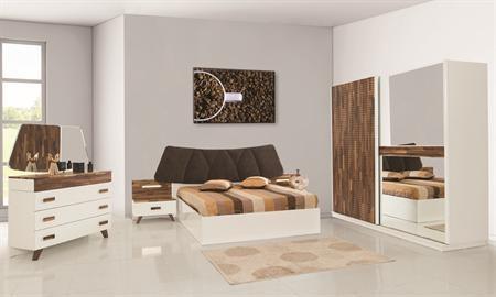 -Nilay modern yatak odası takımı dolap, karyola (bazalı), şifonyer ve 2 adet komodinden bir araya getirilmiştir. -E1 standartlarına uygun olarak üretilmiştir.