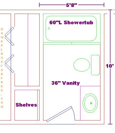 5x10 Bathroom Floor Plan Home Pinterest