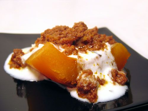 Kaddo Bourani (Pumpkin with Yogurt Sauce). This stuff is amazing and I'll have to try making it at home.