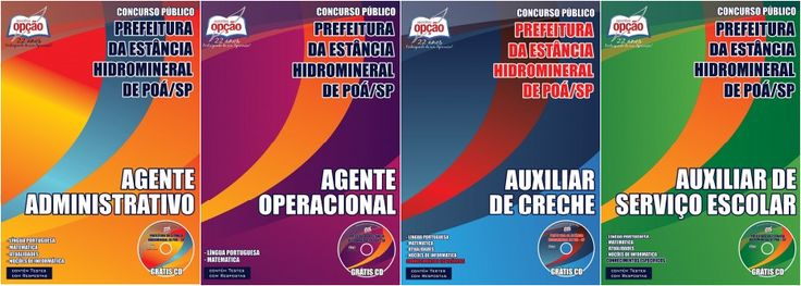 Apostilas Concurso Prefeitura da Estância Hidromineral de Poá / SP - 2015: - Cargos: Agente Operacional, Auxiliar de Creche, Auxiliar de Serviço Escolar e Agente Administrativo