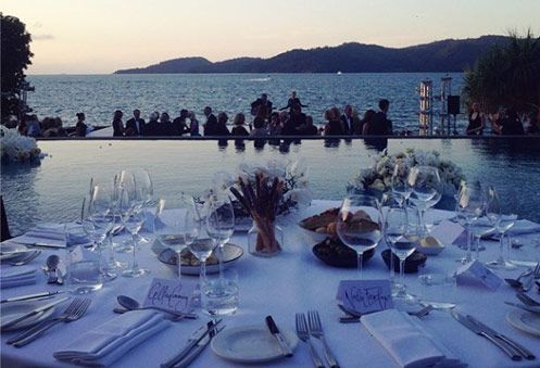 The table is set for a spectacular performance by the Australian Ballet at qualia. #hamiltonisland