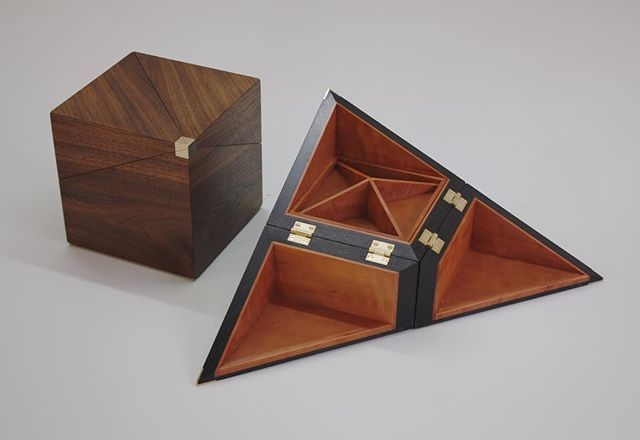 Two jewellery boxes Ex-one year student James @linard79 made. One in bog oak and pear wood and the other in walnut and sycamore. #jewlerybox #bogoak #walnut #woodworking #furnituremaking #furnituremaker #handmade #woodwork #finefurniture #craftsmanship #wood #furnitureschool #furniturecourse #bespoke #finewoodworking #woodart #desginer #design #box #craft #student #brass #hinge #pearwood