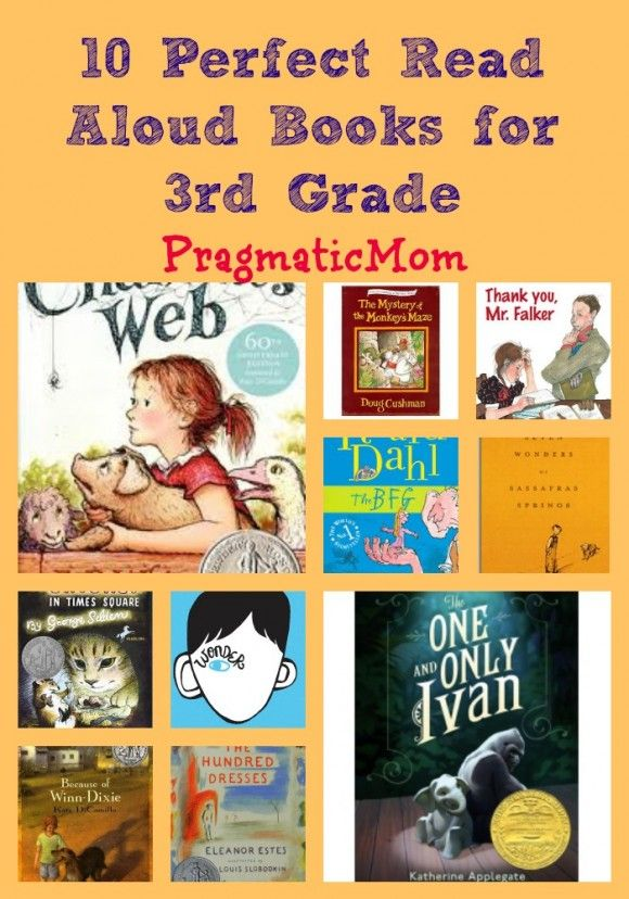 10 Perfect Read Aloud Books for 3rd Grade :: PragmaticMom with Colby Sharp of The Nerdy Book Club.