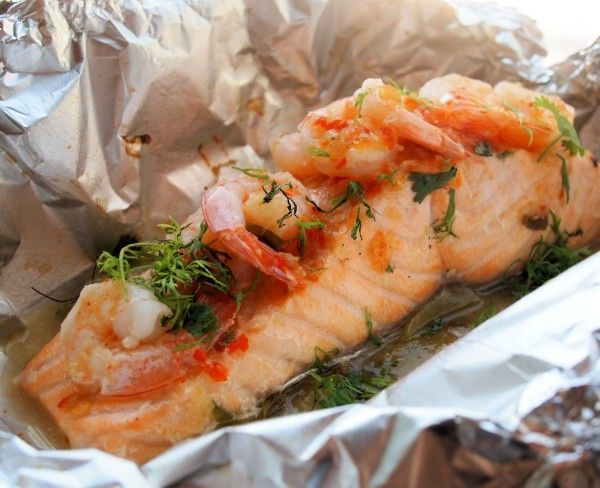 Fish on Friday and ON the BBQ! Chilli, Garlic & Lime Barbecued Salmon Parcels with Prawns :https://www.lavenderandlovage.com/2012/06/fish-on-friday-and-on-the-bbq-chilli-garlic-lime-barbecued-salmon-parcels-with-prawns.html