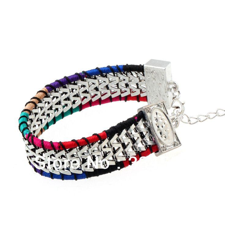 Ручной работы плетёный шнурок браслет необычные шнур коса себе браслет