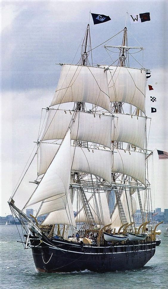 Bark Charles W. Morgan is the oldest surviving square-rigged American merchant ship. 1841