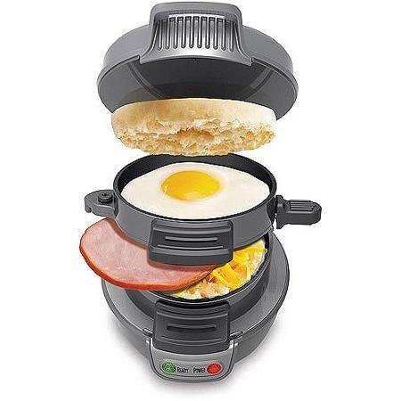 Hamilton Beach Breakfast Sandwich Maker, Silver - http://sleepychef.com/hamilton-beach-breakfast-sandwich-maker-silver/