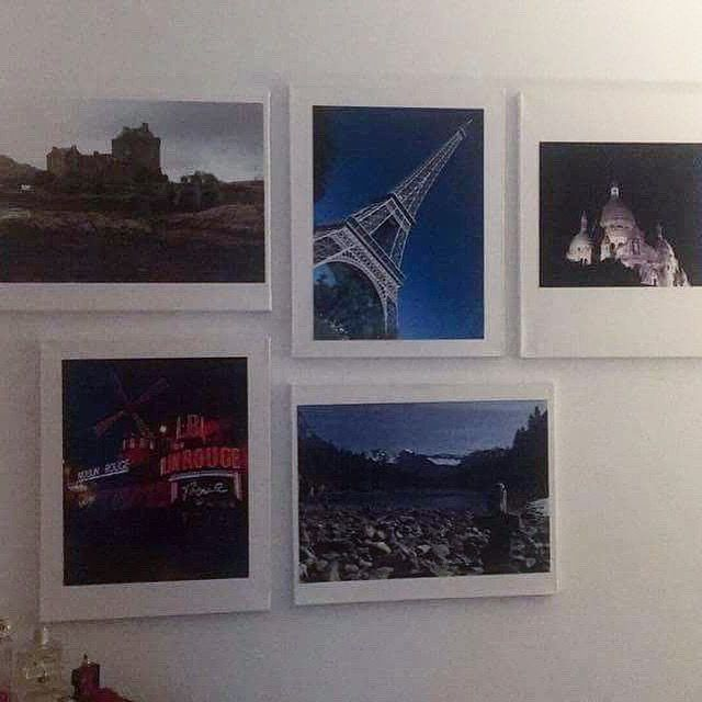 Easy picture gallery with canvas, travel pics and 3M strips