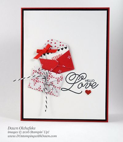 Stampin' Up! Sealed With Love Bundle (new 2017 Occasions Catalog) card and jar by Dawn Olchefske Valentines Day