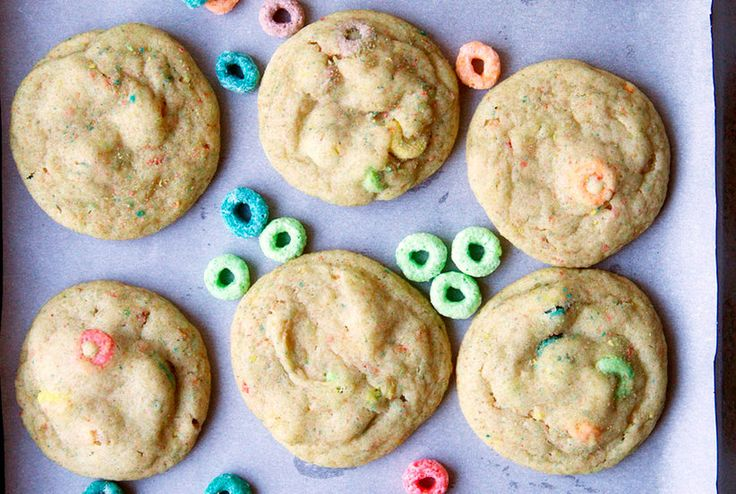 Though everyone has their own cookie preferences (Thin and crispy! Chewy through and through!), a soft-baked cookie is always hard to pass up. With a barely-done texture and super-soft center, these treats will have you returning for seconds before you've finished your first. Their puffy centers beg for a mix-in, and what better choice than colorful Froot Loops cereal? These cookies make for a great alternative to classic chocolate chip, and would be a fun treat for kids birthday parties or…