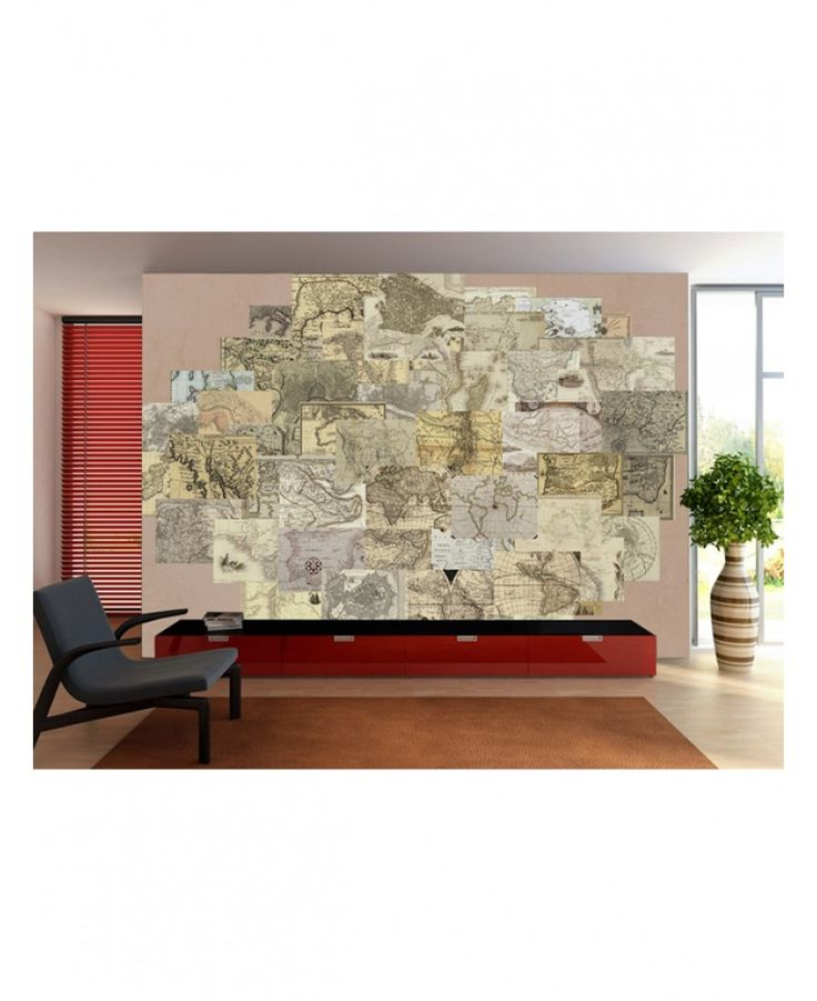 Create your own fantastic feature wall, completely unique to you, with this 64 piece Creative Collage Vintage Maps Designer Wall Mural! Using the selection of vintage look present day maps included you can come up with your own individual design tailored to suit you.