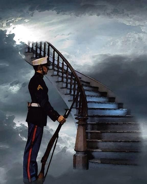 Guarding the gate to heaven.  Remembering those who gave all...