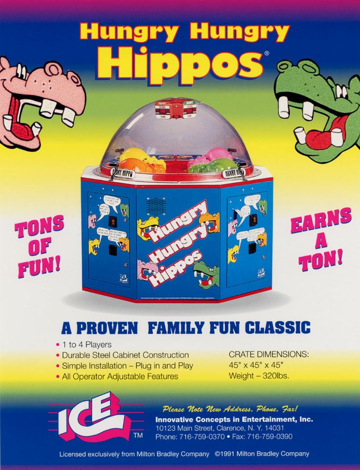 Hungry Hungry Hippos Arcade Game Kids Play Worlds Pinterest Hungry Hungry Hippos And Childhood