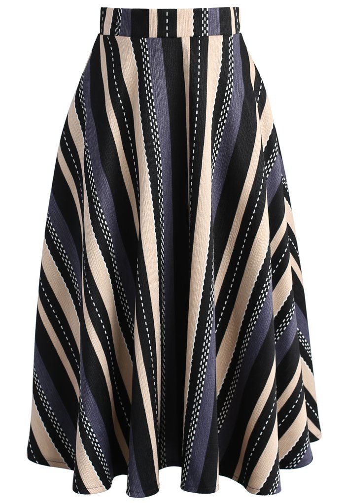 Days and Stripes A-line Midi Skirt - New Arrivals - Retro, Indie and Unique Fashion