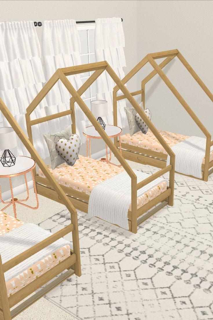 Triplets Nursery | Bedroom decor, Triplets nursery ...