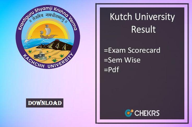 Kutch University Result 2017 #October #DownloadPdf