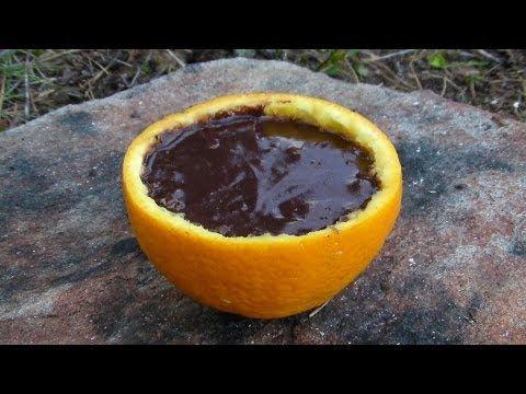 캠핑에서 쉽게 만들 수 있는 '오렌지 초콜릿 케이크' (GIF)