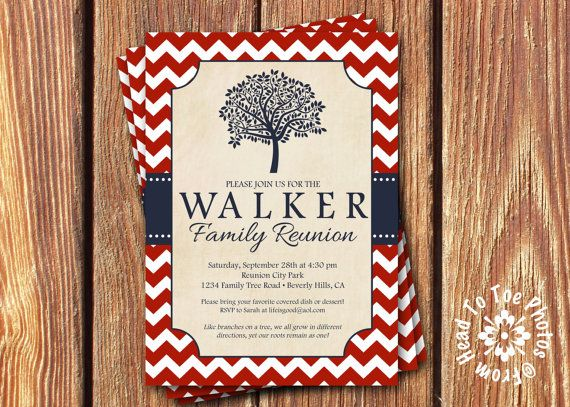 Family Reunion Invitations Pick your by FromHeadtoToeDesigns, $12.00