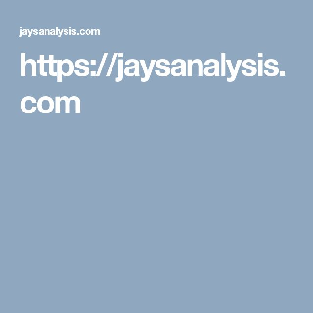 https://jaysanalysis.com | Jay's Analysis