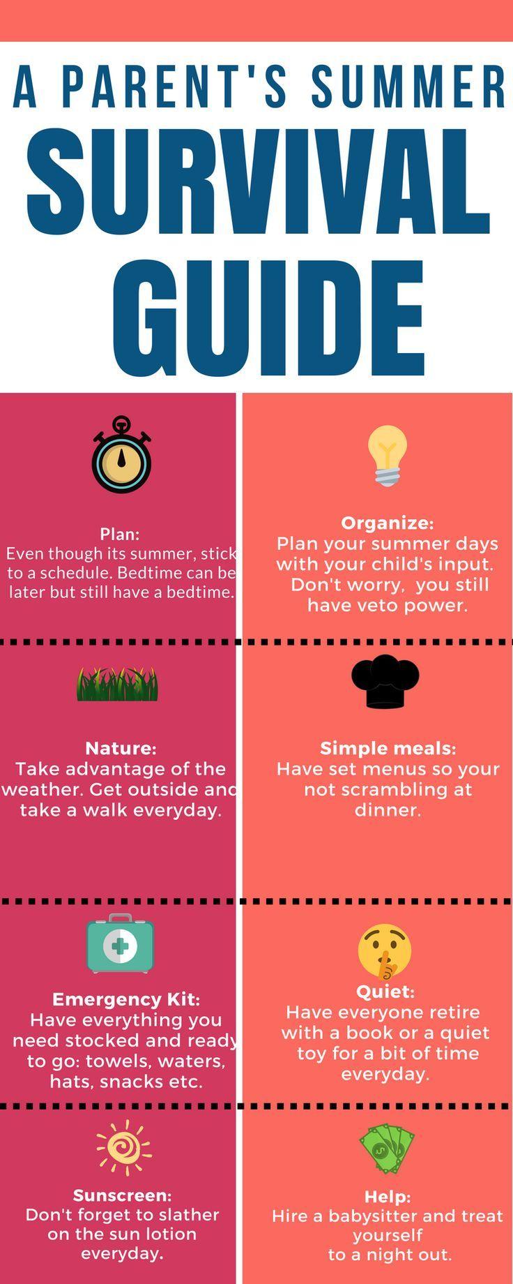Summer Survival Skills For Parents Parenting Simply Summer Survival Summer Survival Guide Parental Guidance