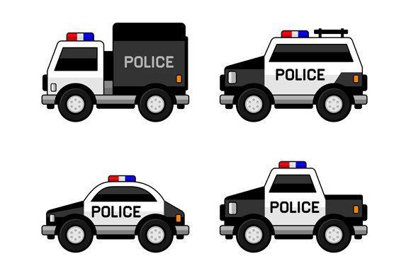 Police Car Set Police Cars Police Police Crafts