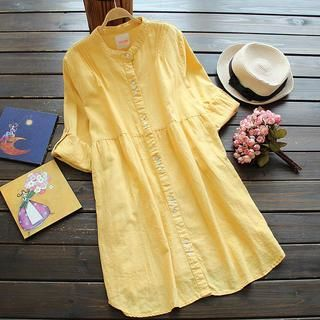 Buy 'Flower Idea – Stand-Collar Dress' with Free International Shipping at YesStyle.com. Browse and shop for thousands of Asian fashion items from China and more!