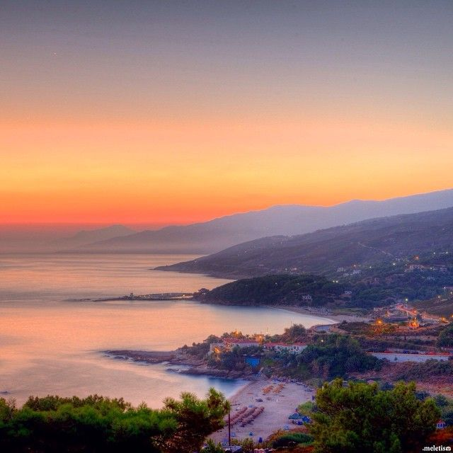 #sunset from the mountains of #ikaria #greece