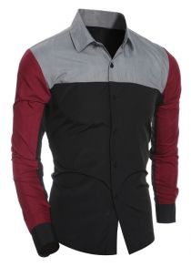 Color Block Long Sleeve Shirt