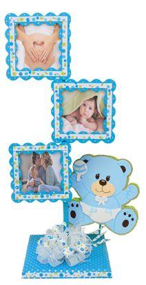 Decoración para Baby Shower / Portarretrato / Marco de madera