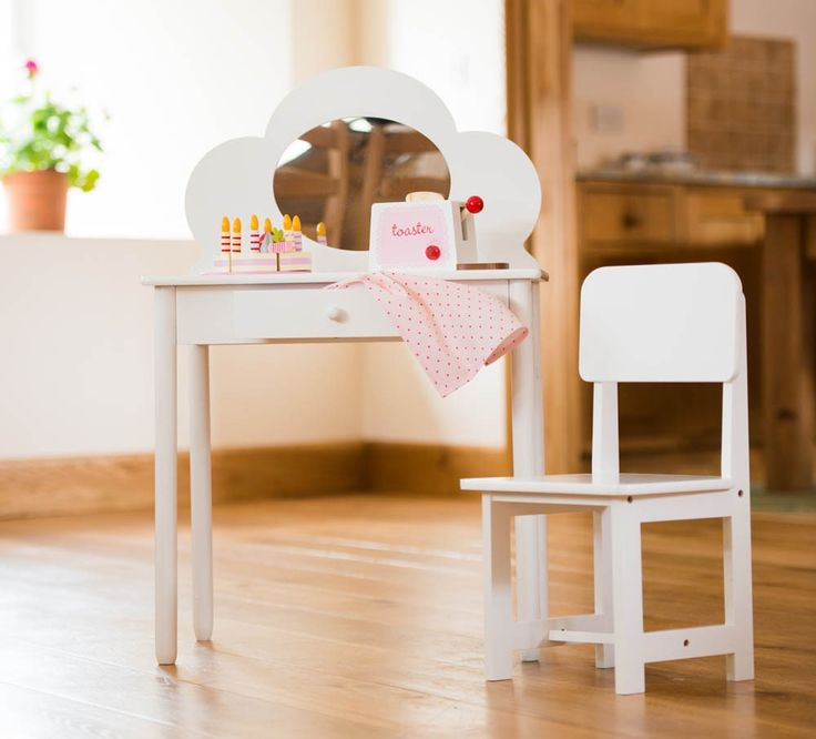 This Classic White Dressing Table For Children Is Just What Every Little  Princess