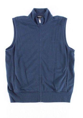 Michael Kors Blue Midnight Sky Mens Size Medium M Vest Sweater