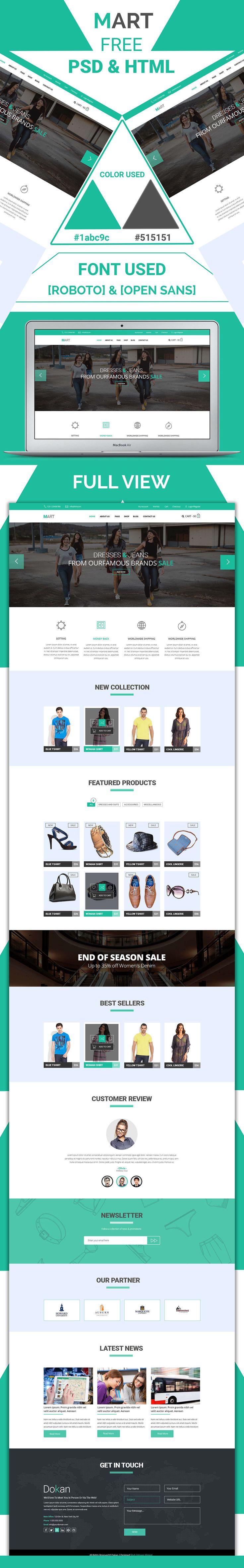 Free E-Commerce Website Template (PSD – HTML)