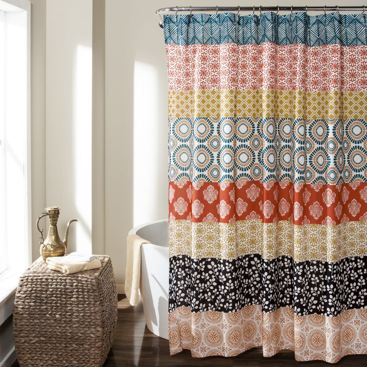 Lush Decor Bohemian Stripe Shower Curtain | Overstock.com Shopping - The Best Deals on Shower Curtains