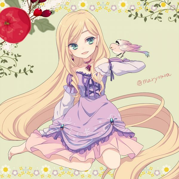 Rapunzel- anime style (reminds me of bishamon from noragami!)