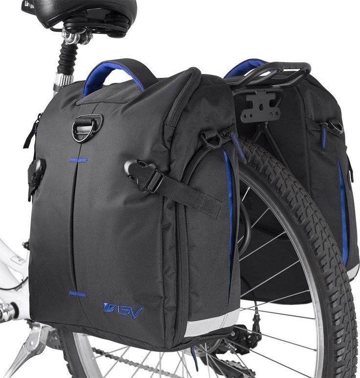 BV Bike Commuter Bag Cycling Panniers Rear Storage #BV  #BikeAccessories #SaddleBag #BicycleGear #BikeGear #BicycleAccessories #Pannier #BikeStorage