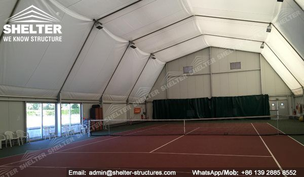 60 Shelter Polygonal Tent Indoor Tennis Court Installation Indoor Tennis Club Indoor Tennis Tennis Court Sports Tent