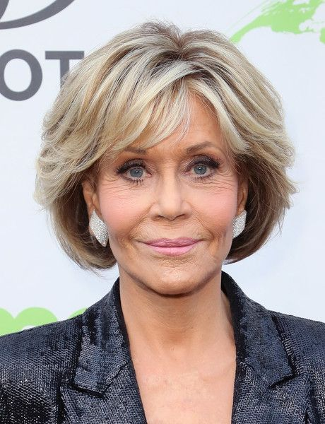 Jane Fonda Bob Cut And Color In 2019 Short Bob