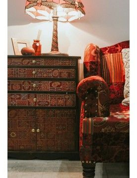 Henna Painted Cabinet