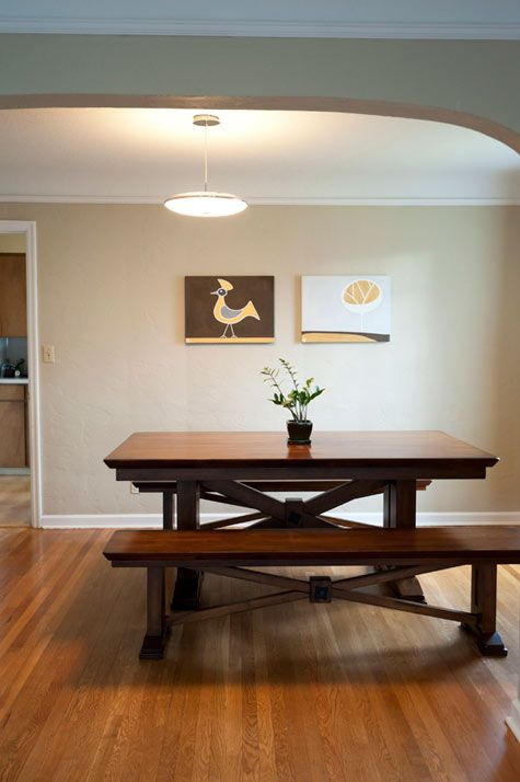 I kind of like the idea of a kitchen table with bench seats