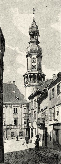 Sopron város tornya. Háry Gyulától